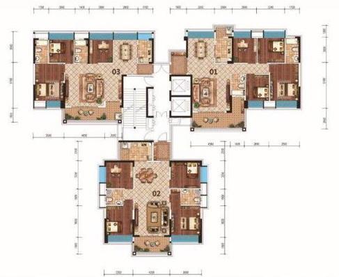 18座03户型建筑面积约117.55㎡