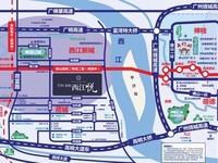 西江新城大型学 区房-高楼层非顶三房带精装-无按揭正常首付-空间感好-通透性好