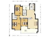 出租城市杰座3室2厅2卫119平米1500元/月住宅