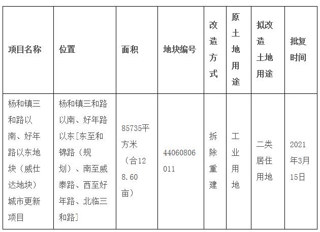 项目基本情况表