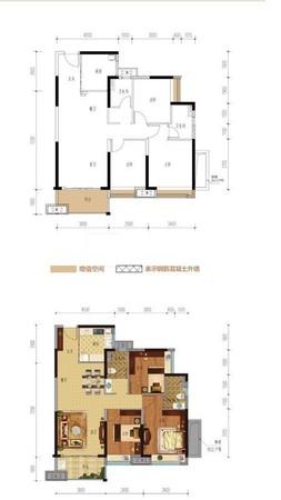 明湖公园旁美的大盘南向舒适大三房二厅,全新末住过!单价9字头