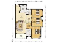 西江新城 美的西海岸东区 全新毛坯3房2厅2卫!南向望花园户型!格局方正实用!