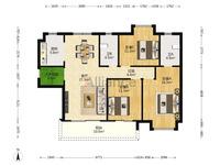 西江新城 美的西海岸东区 大户型3房2厅2卫单价低 仅需8400几!朝南向!