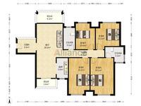 西江新城 美的 西海岸西区 全新毛坯4房2厅2卫!南北对流双阳台户型赠送面积多!