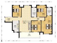 西江新城 美的 西海岸西区 全新毛坯4房2厅2卫!南北对流户型!格局方正实用!