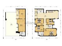 西江新城 美的西海岸东区 复式带大花园住宅!精装修6房2厅3卫!仅需162万!